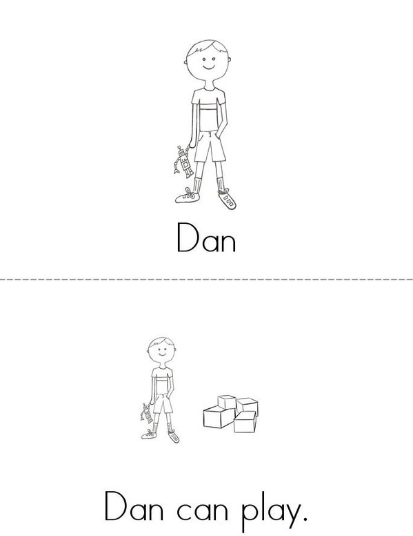 Dan and Jen Mini Book - Sheet 1