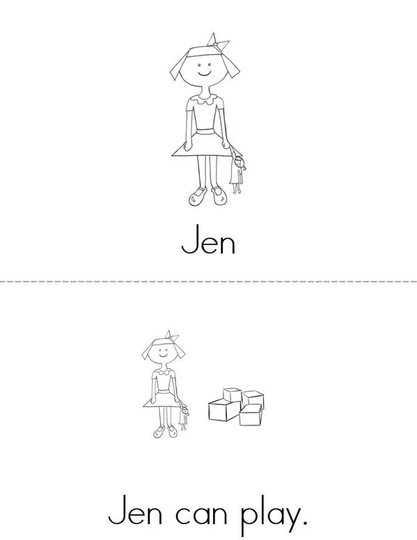 Dan and Jen Mini Book - Sheet 2