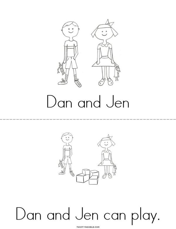 Dan and Jen Mini Book - Sheet 3
