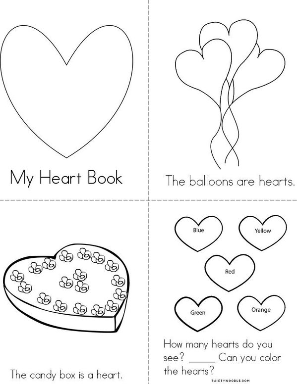 Heart Mini Book