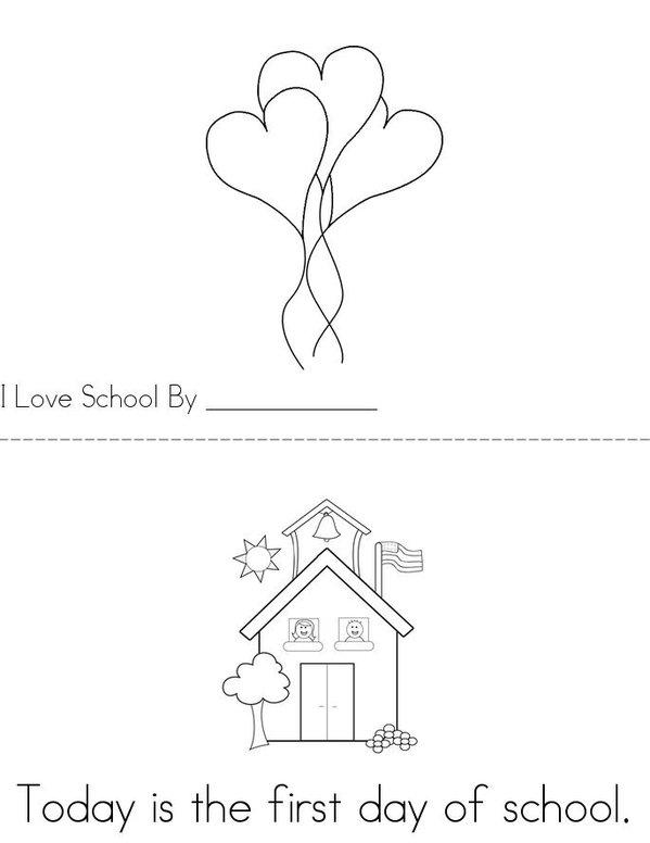 School Mini Book - Sheet 1