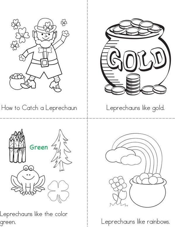 How to catch a Leprechaun Mini Book - Sheet 1