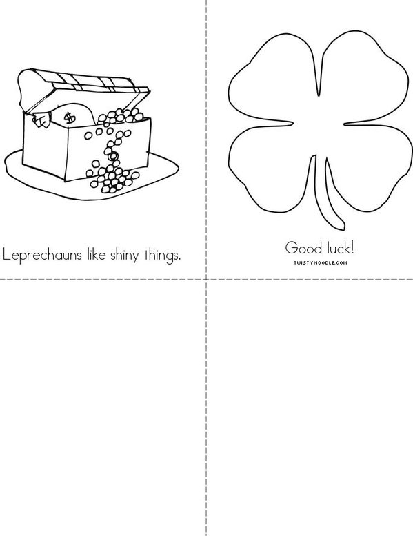 How to catch a Leprechaun Mini Book - Sheet 2