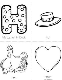 My Letter H Book