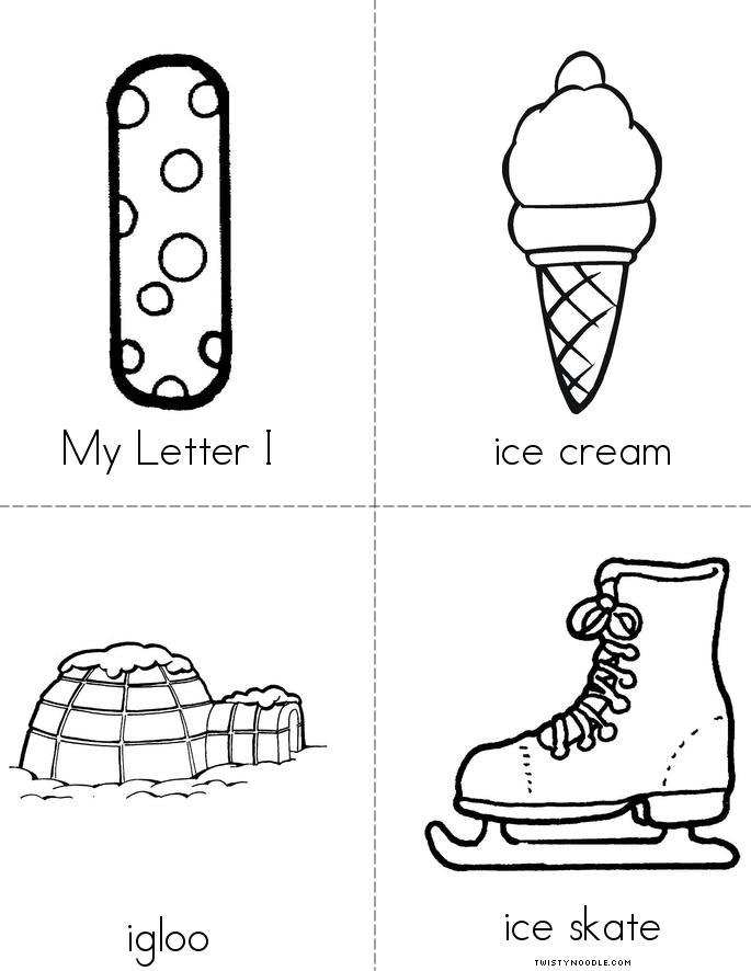 Letter I Words My letter i mini book 1 sheet