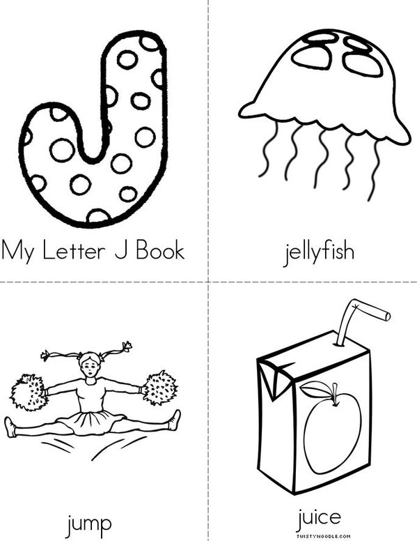 My Letter J Book - Twisty Noodle