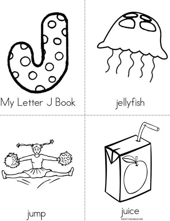 My Letter J Mini Book