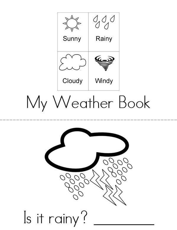 What's the weather? Mini Book - Sheet 1