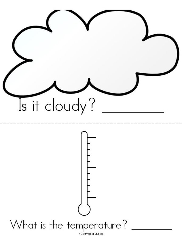 What's the weather? Mini Book - Sheet 3