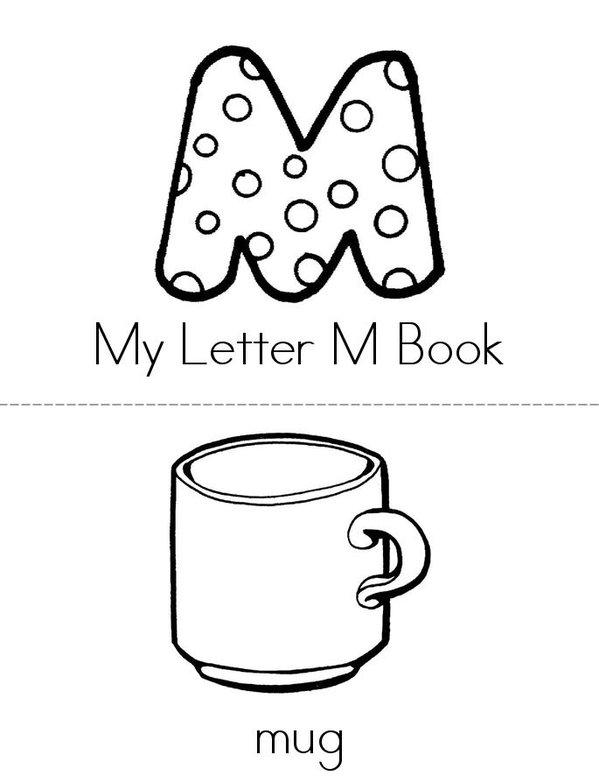My Letter M Mini Book - Sheet 1