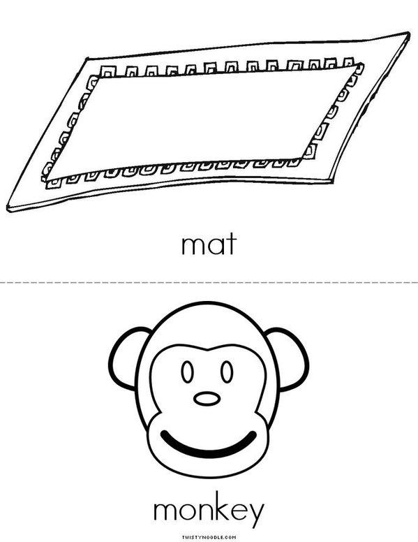 My Letter M Mini Book - Sheet 2