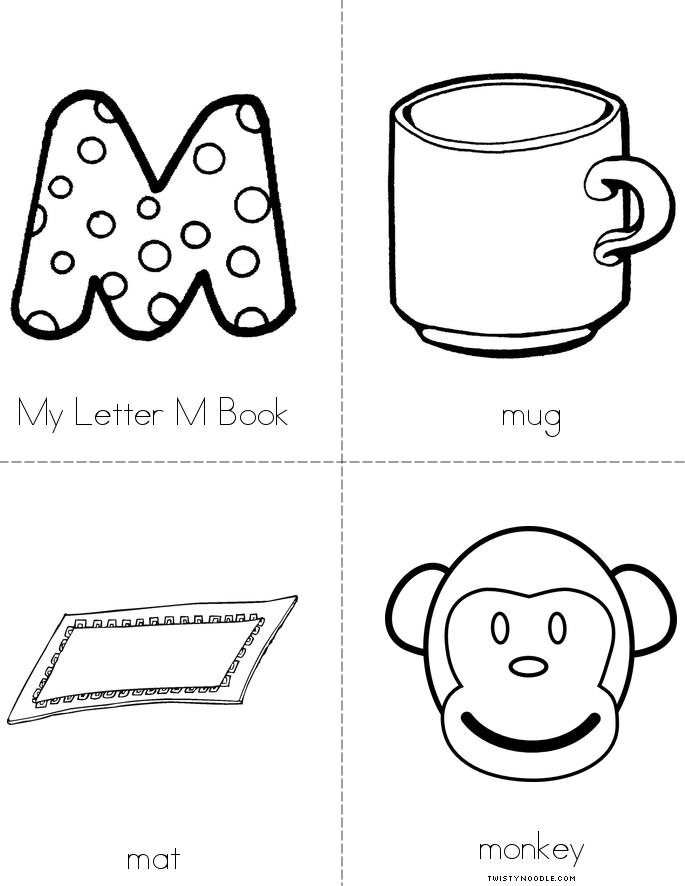 Pic Of M Letter >> My Letter M Book - Twisty Noodle