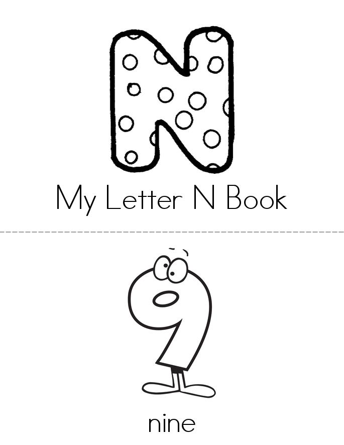 My Letter N Book Twisty Noodle