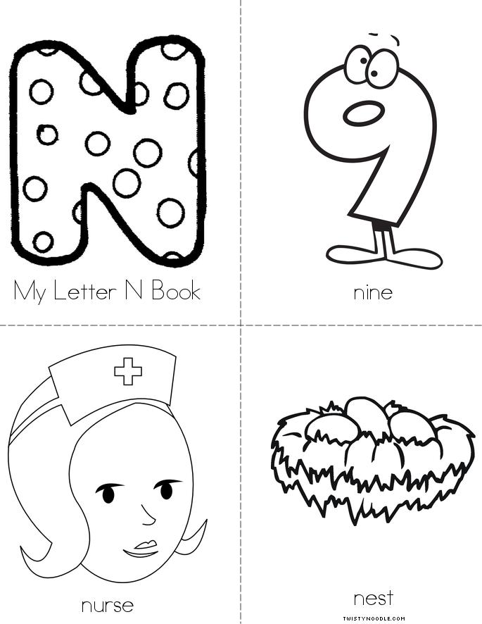 my letter n book