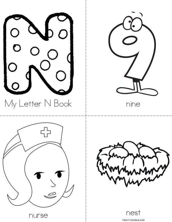 My Letter N Book - Twisty Noodle