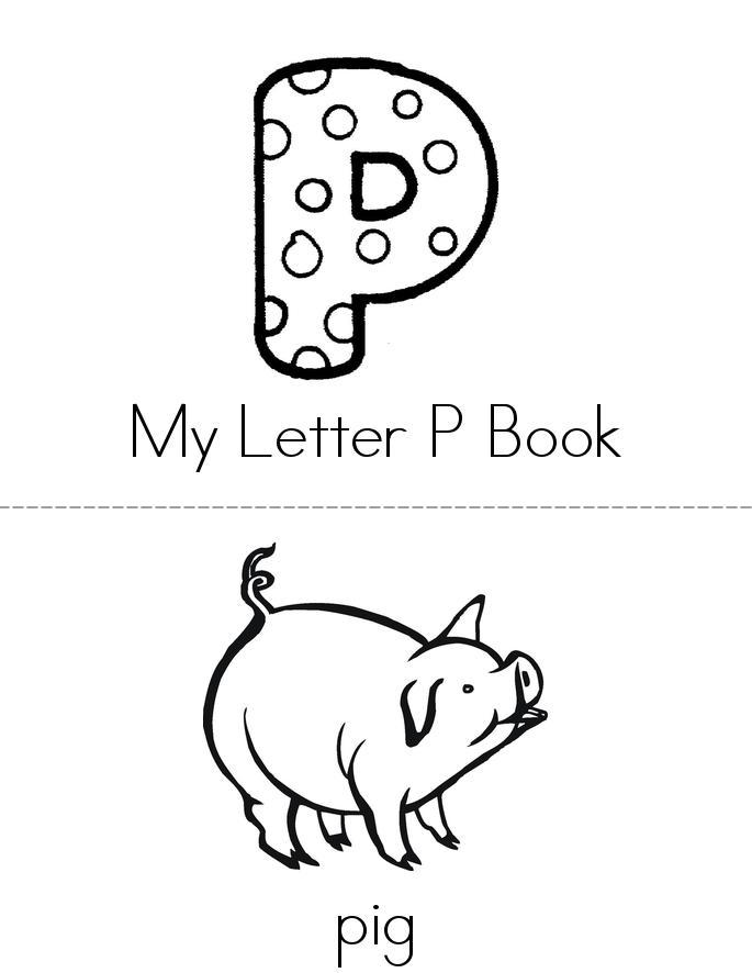 My Letter P Book - Twisty Noodle