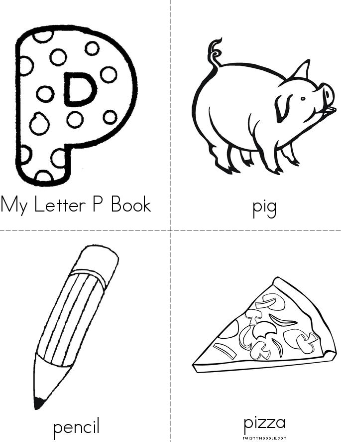 letter p coloring pages kindergarten - my letter p book twisty noodle