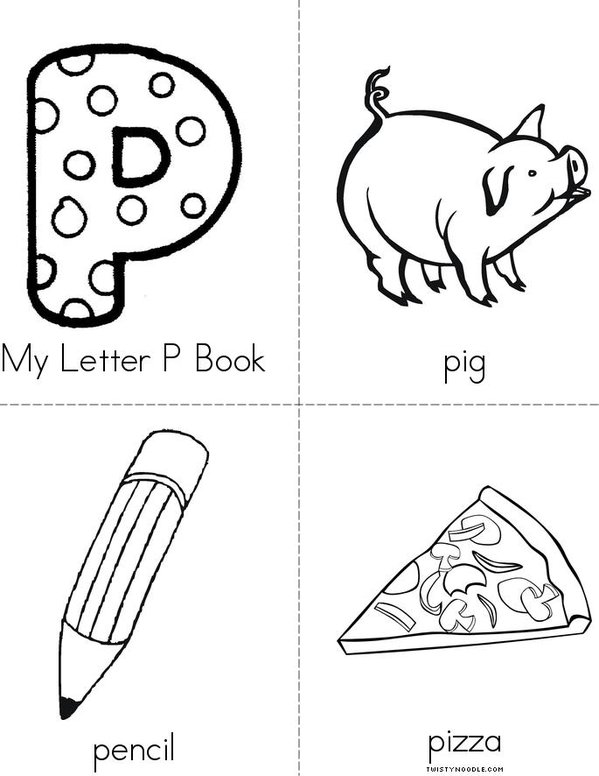 My Letter P Mini Book