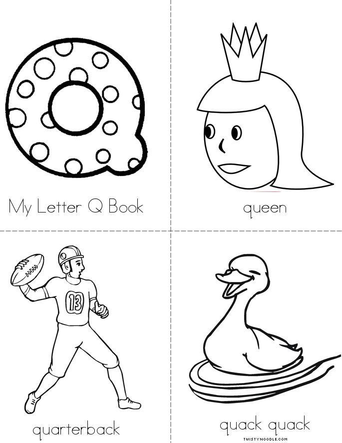 My Letter Q Beginning Readers Book - Twisty Noodle