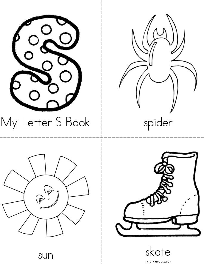 My Letter S Minibook on Printable Mini Coloring Book