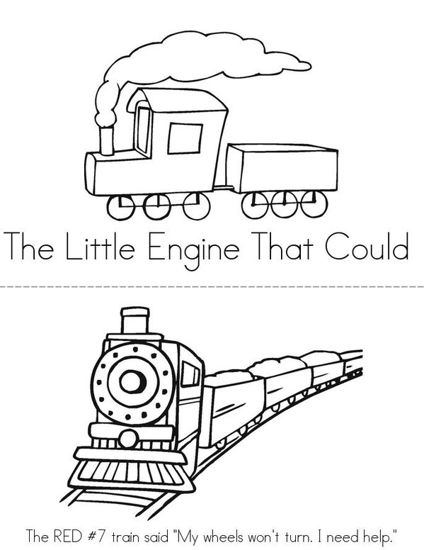 The little engine that could mini book sheet 1