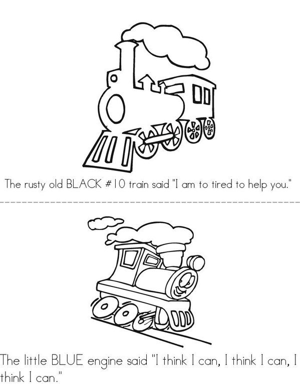 The little engine that could mini book sheet 3