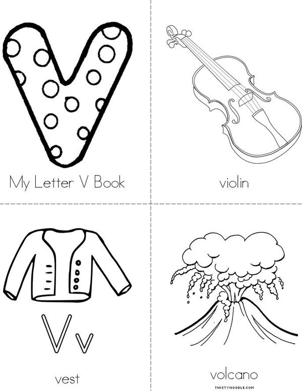 My Letter V Mini Book
