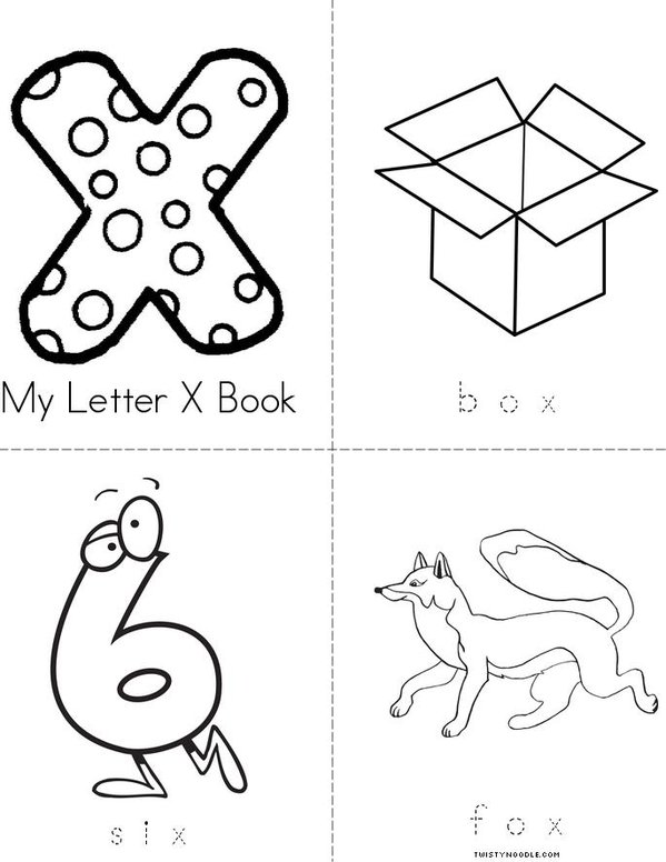 My Letter X Mini Book