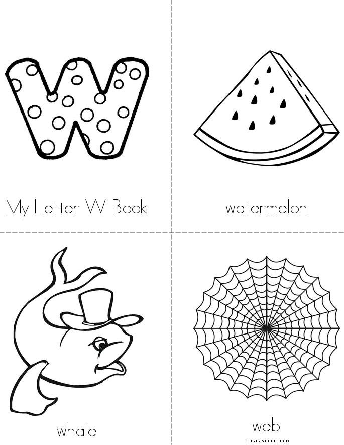 my-letter-w-minibook-4-sheet-pg1 Letter W Template Full Page Free on for whale, wagon craft, string art, watermelon craft, large block,