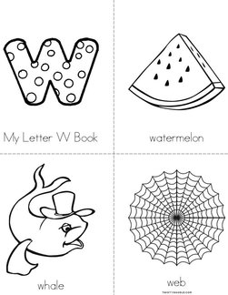 My Letter W Book