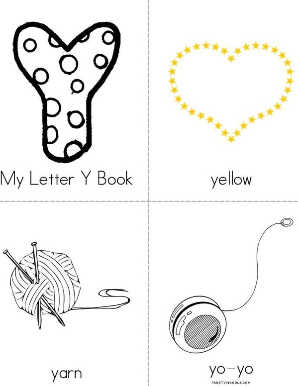My Letter Y Mini Book