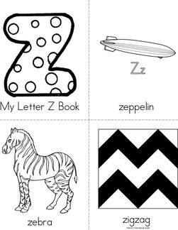 My Letter Z Book