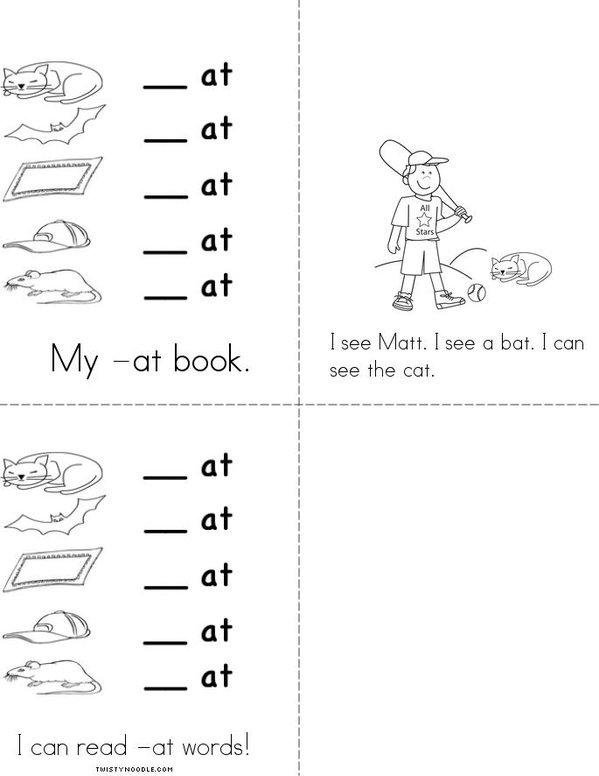 My -at book Mini Book - Sheet 2