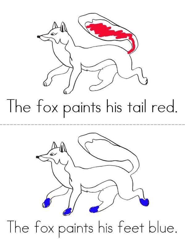 Fox Mini Book - Sheet 2
