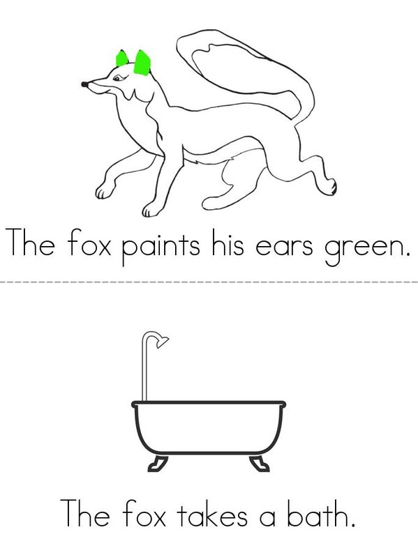 Fox Mini Book - Sheet 3