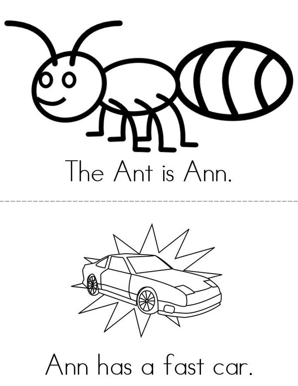 The Ant Mini Book - Sheet 1
