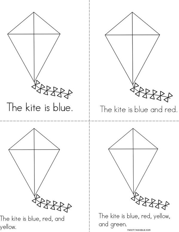 Color the Kite Mini Book