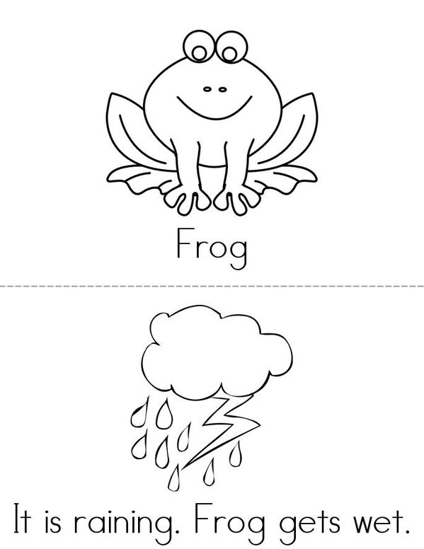 Frog and Alligator Mini Book - Sheet 1