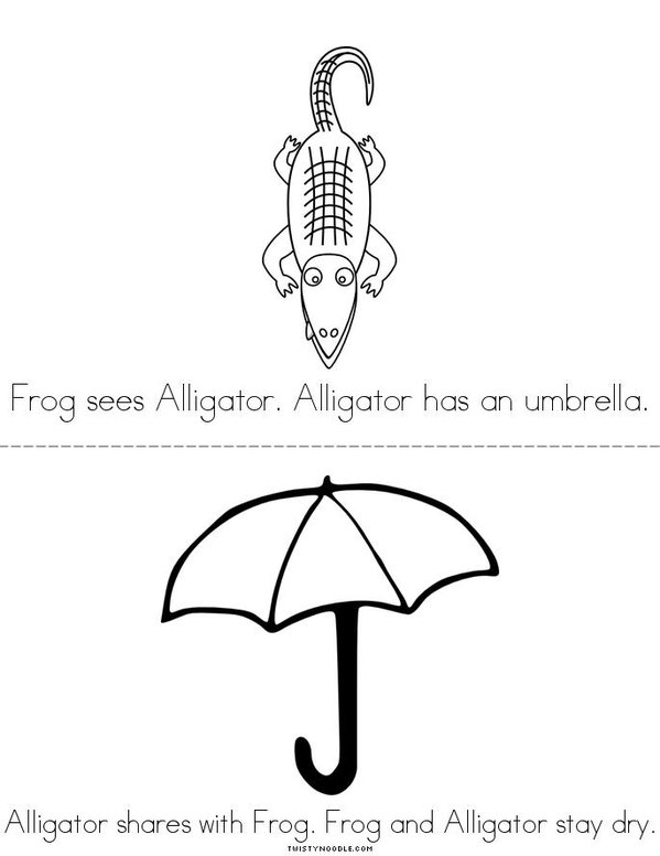Frog and Alligator Mini Book - Sheet 2