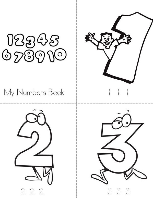 My Numbers Mini Book - Sheet 1