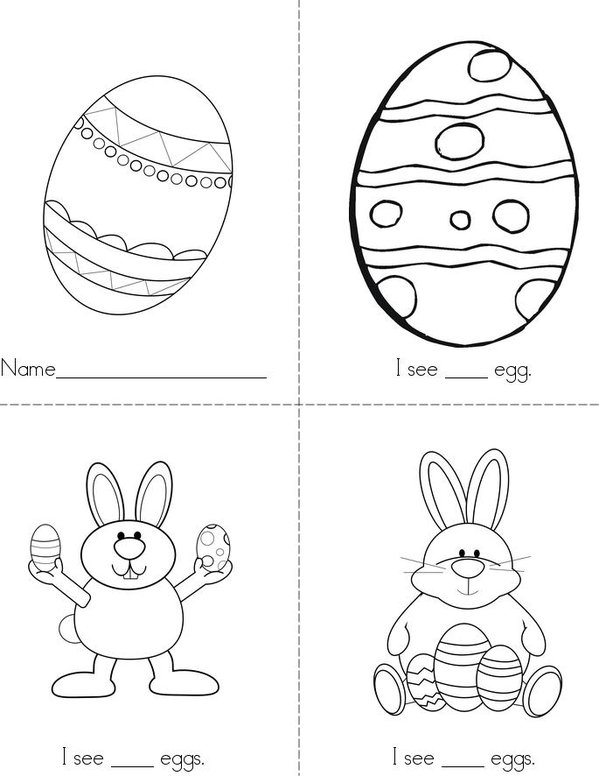 Counting Eggs Mini Book - Sheet 1