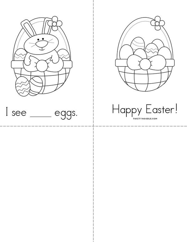 Counting Eggs Mini Book - Sheet 2