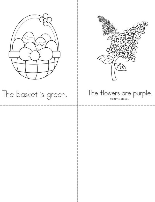 Easter Colors Mini Book - Sheet 2