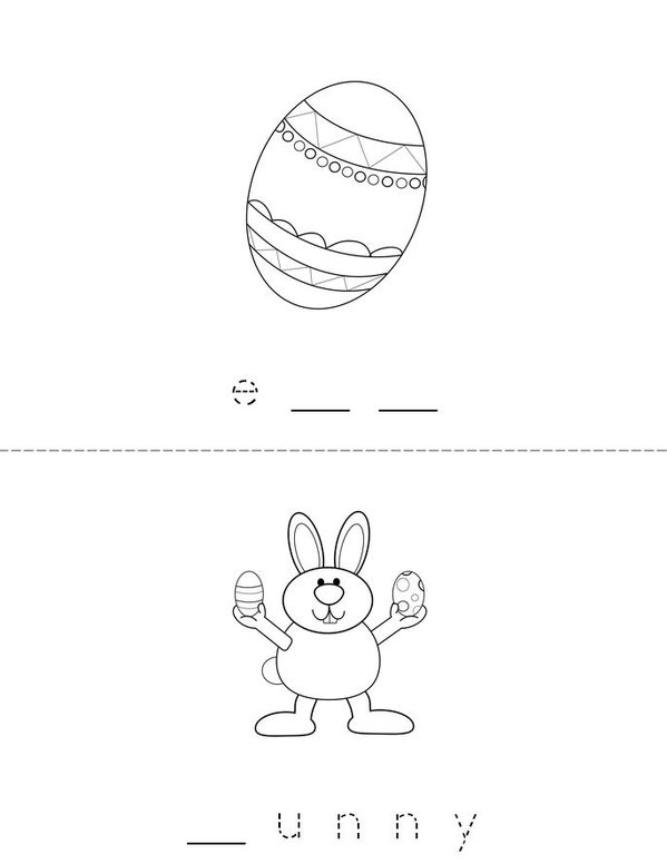 Fill in the missing letters (Easter) Mini Book - Sheet 2