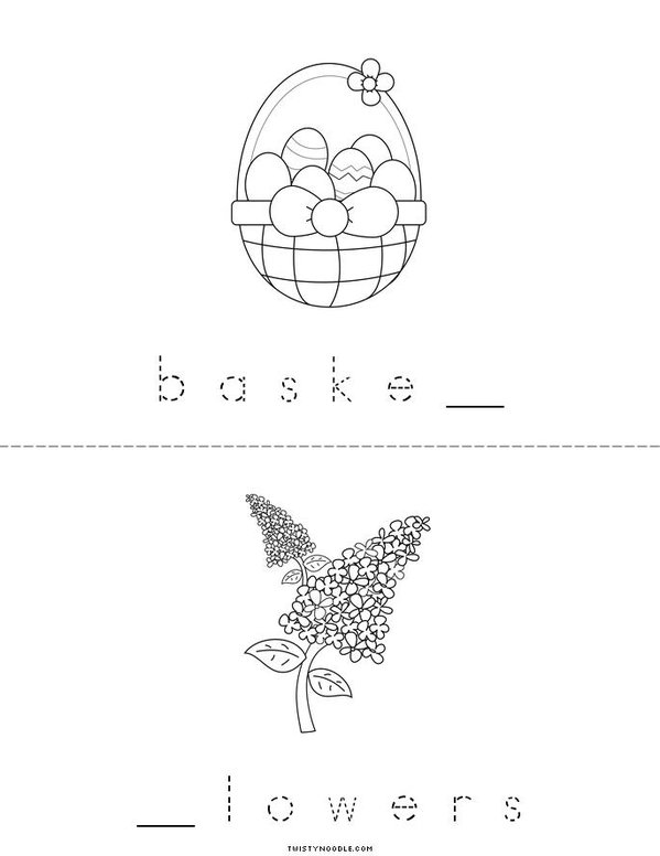 Fill in the missing letters (Easter) Mini Book - Sheet 3