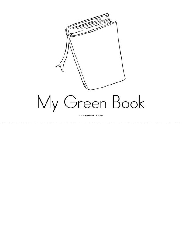 My Green Book Mini Book - Sheet 3