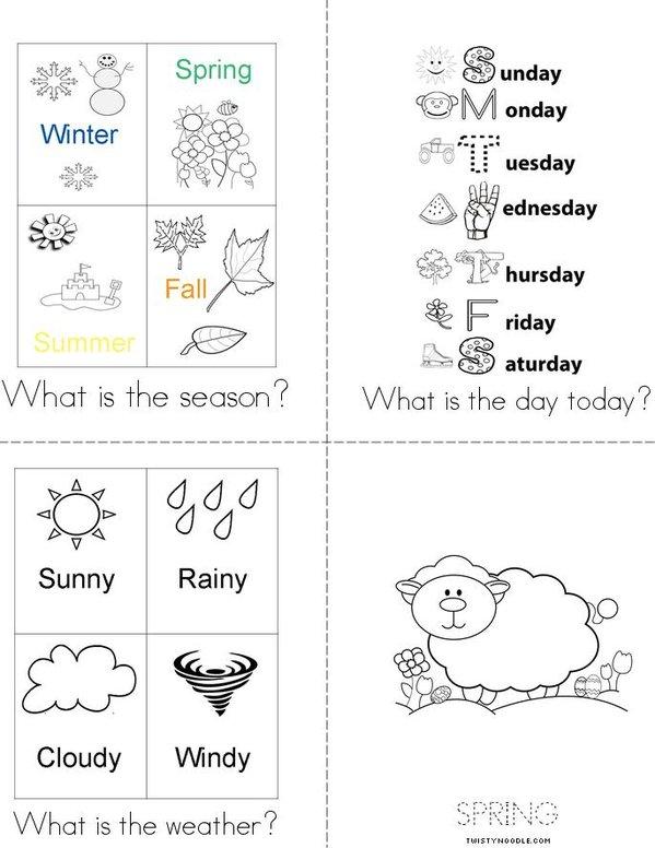 What's the Season? Mini Book