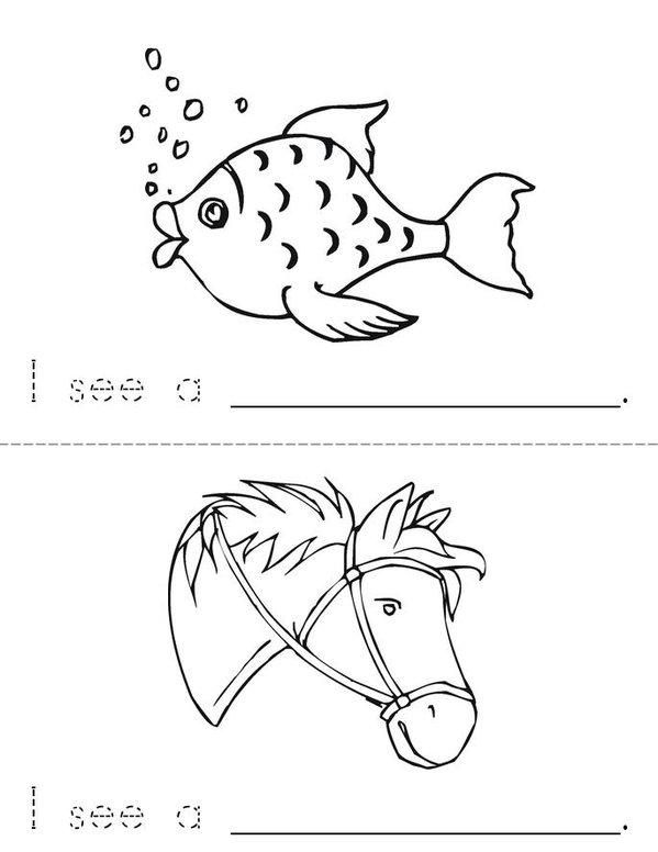 I See! Mini Book - Sheet 2