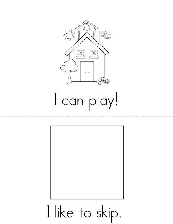 I Can Play Mini Book - Sheet 1