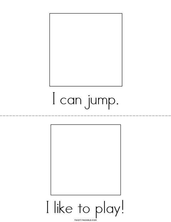 I Can Play Mini Book - Sheet 3